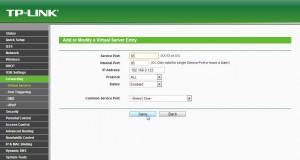 tp-link router port forward