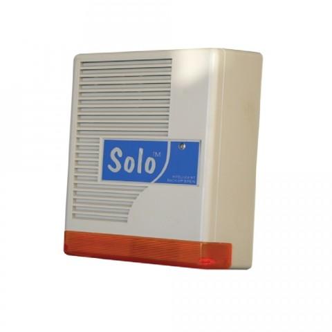 Kültéri akkumulátoros hang- fényjelző, MABISZ minősítéssel, levehető előlap